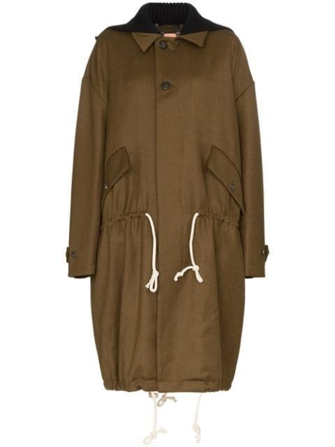 Plan C Drawstring Waist Wool Parka Coat - Farfetch
