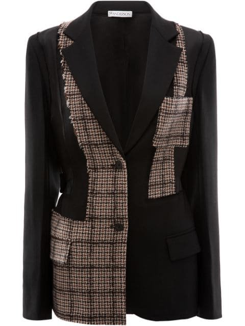 JW Anderson Patchwork Tailored Wool Jacket - Farfetch
