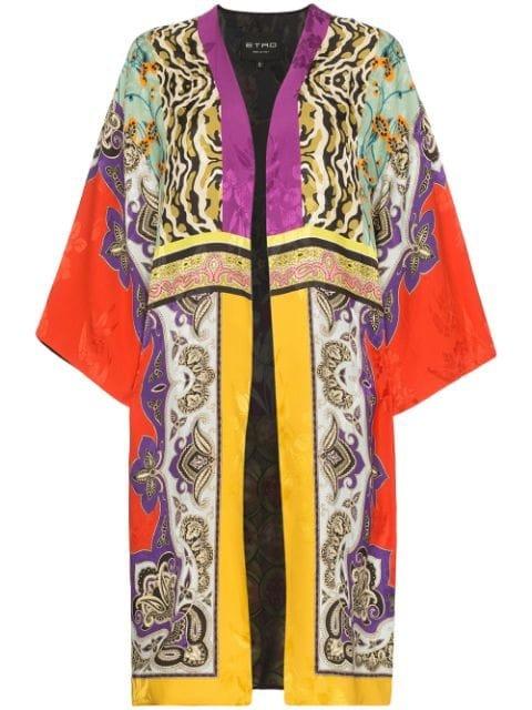 Etro Patch Print Jacquard Kimono - Farfetch