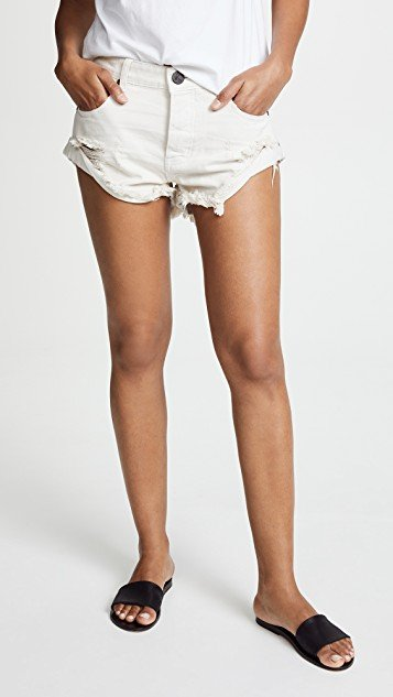 Worn White Bandit Shorts
