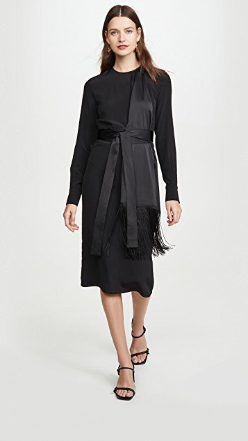 Fringe Scarf Dress