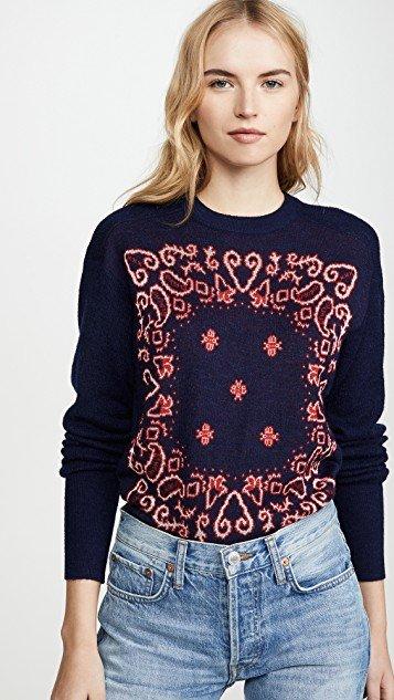 Jacquared Bandana Sweater