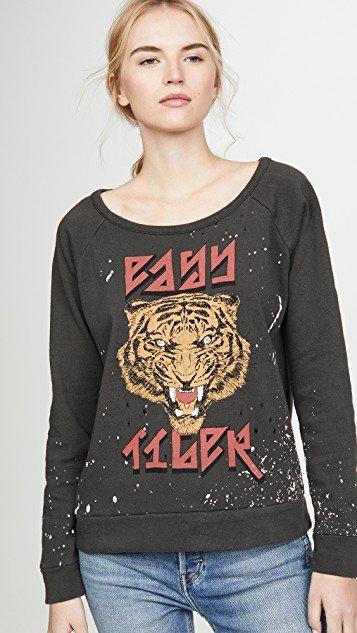 Cotton Fleece Long Sleeve Raglan Pullover