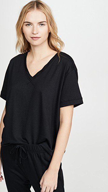 Baby French Terry V Neck Tee