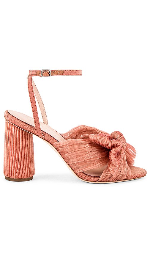 Camellia Knot Mule With Ankle Strap