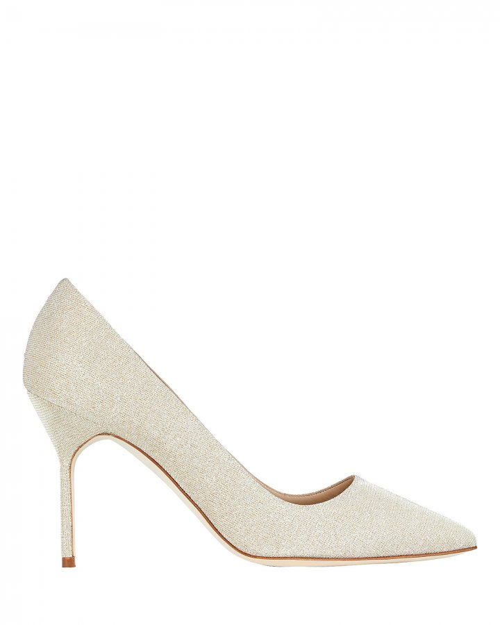 BB Metallic Suede Pumps