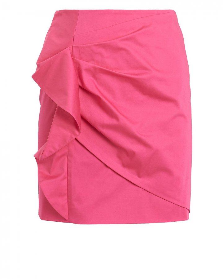 Perinne Asymmetrical Ruched Mini Skirt