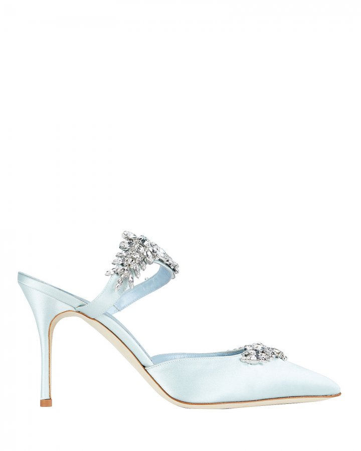 Lurum Crystal-Embellished Satin Mules