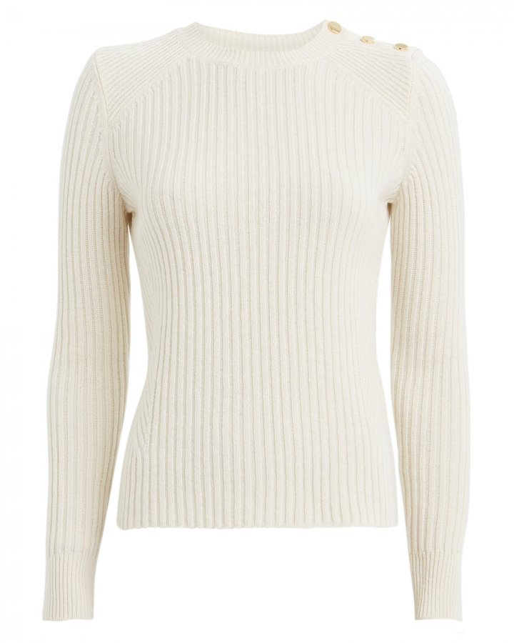 Beatrix Ribbed Wool-Cashmere Sweater