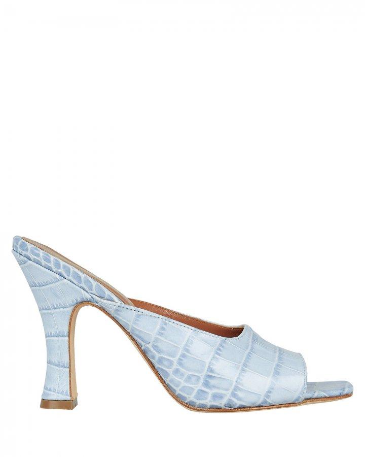 Croc-Embossed Sandals