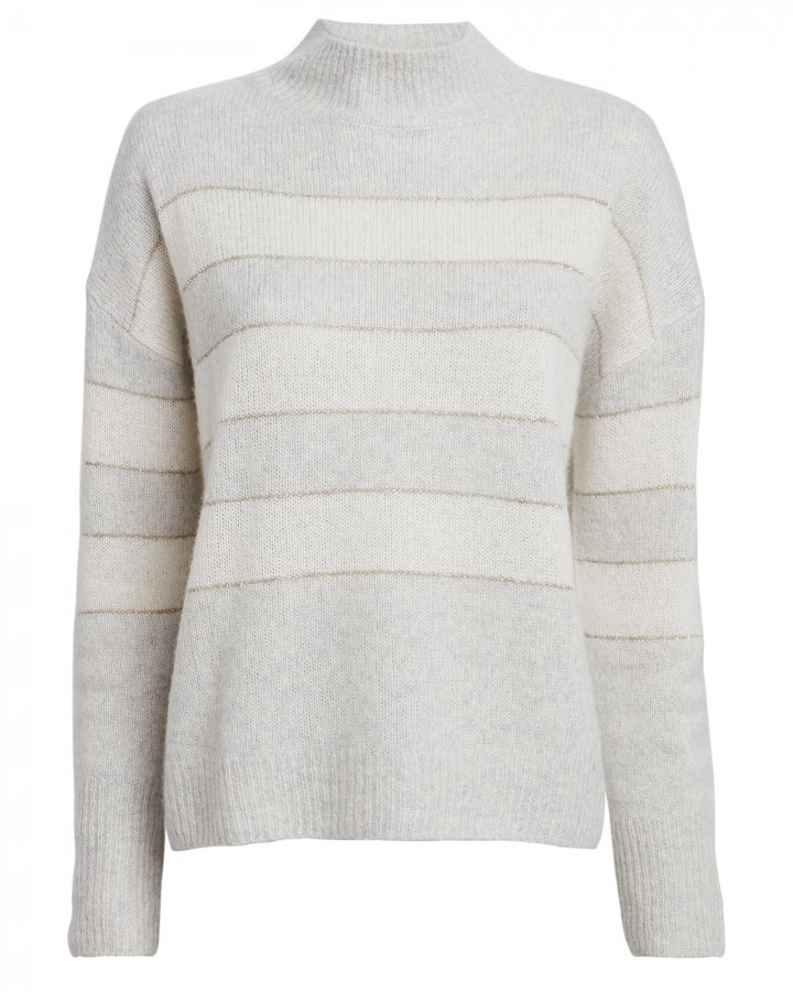 Ellise Striped Silk-Cashmere Sweater