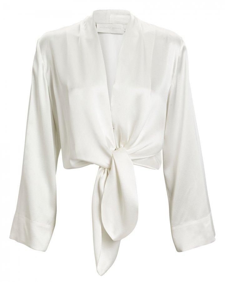Silk Kimono Sleeve Blouse