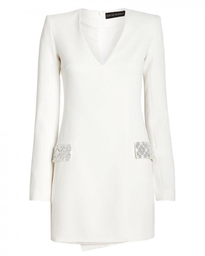 Embellished Tailored Mini Dress