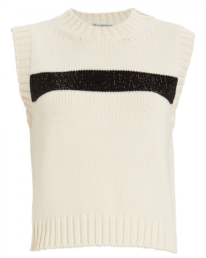 Embellished Virgin Wool Sweater Vest