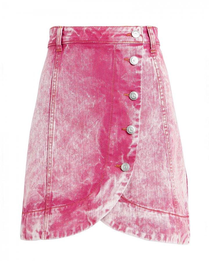 Acid Wash Denim Mini Skirt