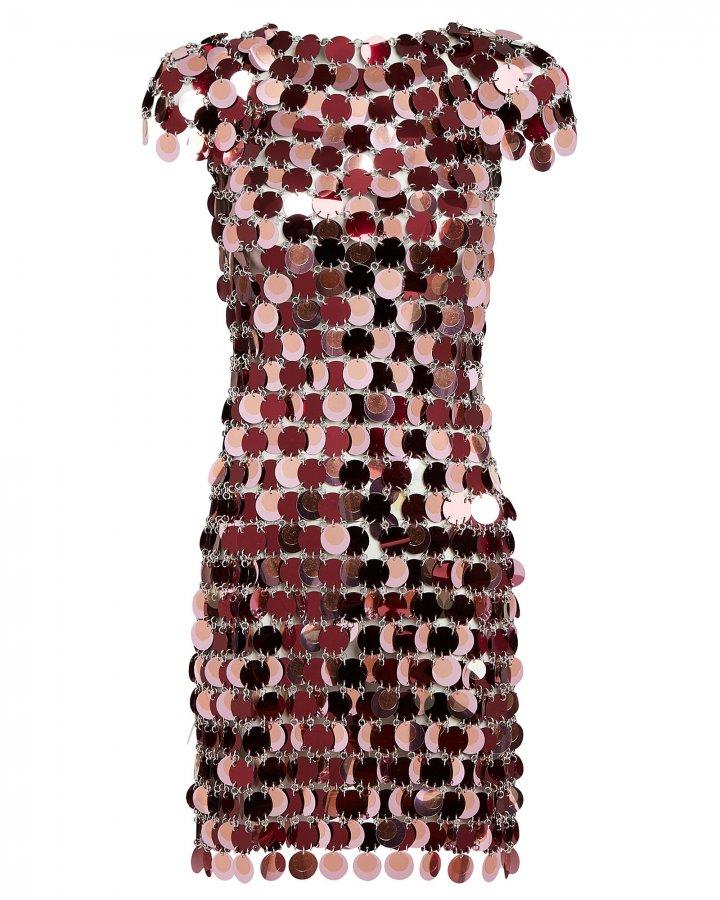 Pastilles Metallic Mini Dress