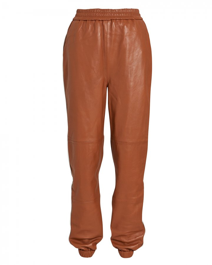 Vana Leather Track Pants