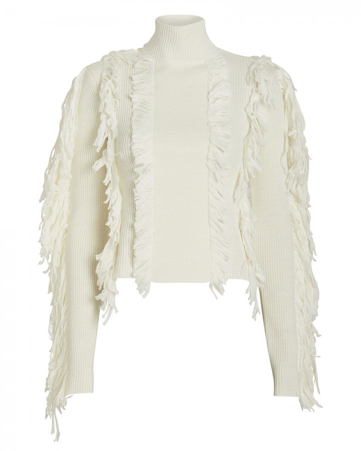 Fringe Chunky Knit Sweater