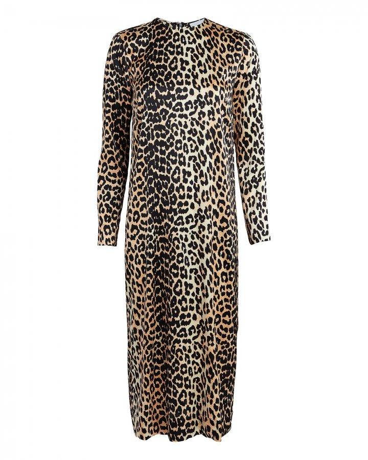 Leopard Silk Shift Dress