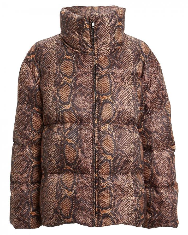 Berta Snake-Printed Puffer Jacket