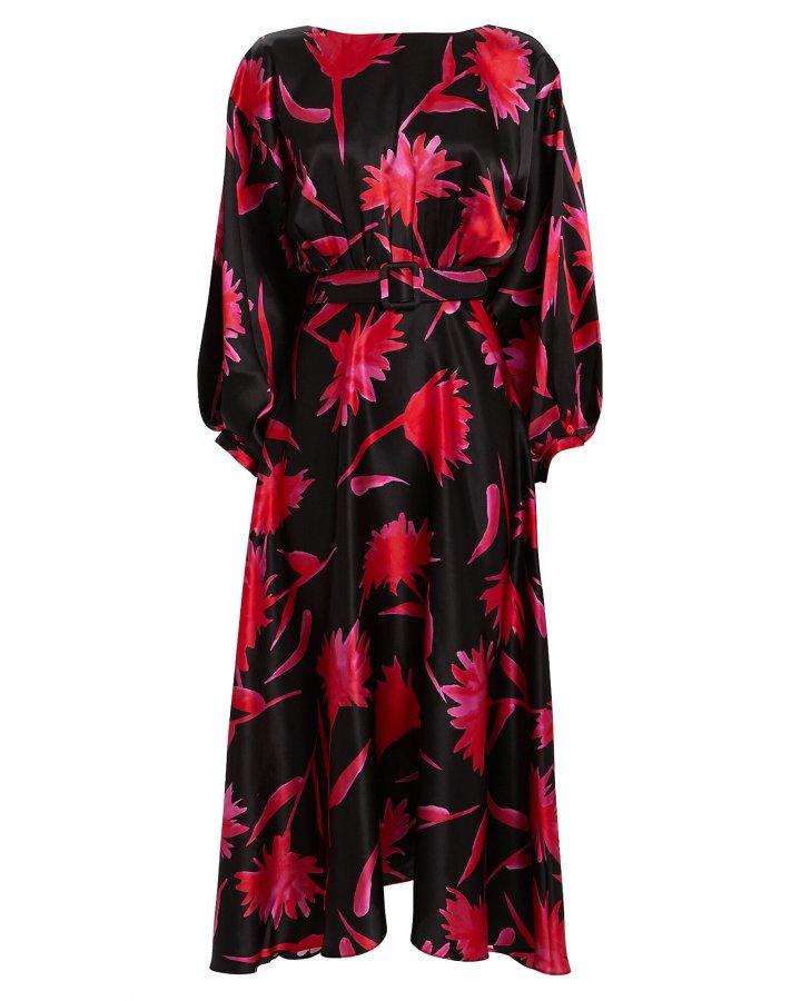 Kim Floral Silk Dress