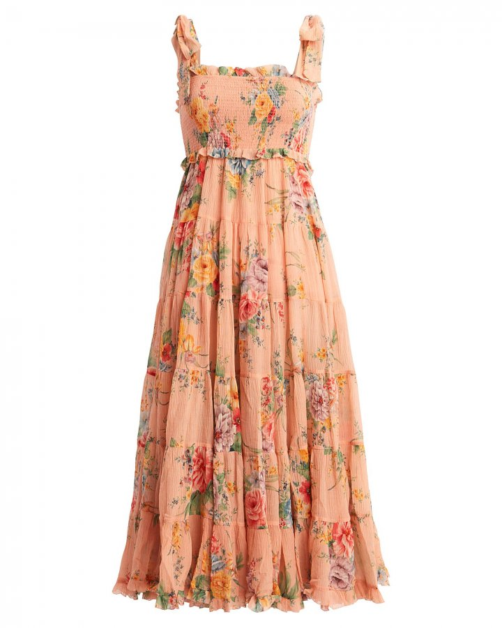 Zinnia Floral Georgette Dress