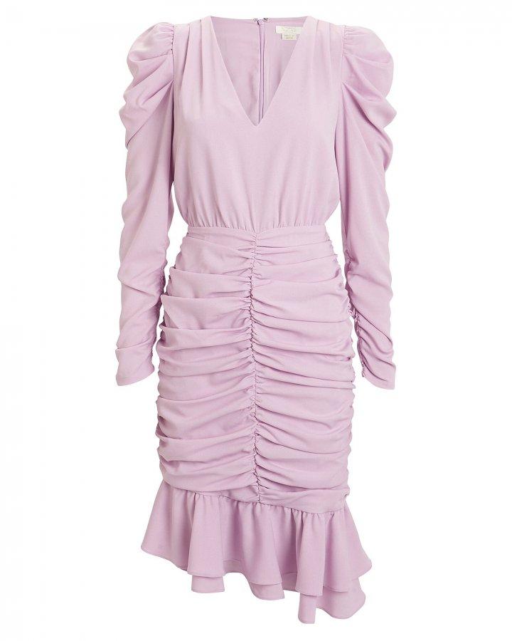 Naya Ruched Crepe Dress