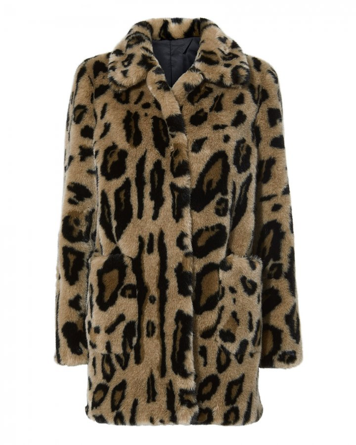 Alexa Leopard Faux Fur Coat