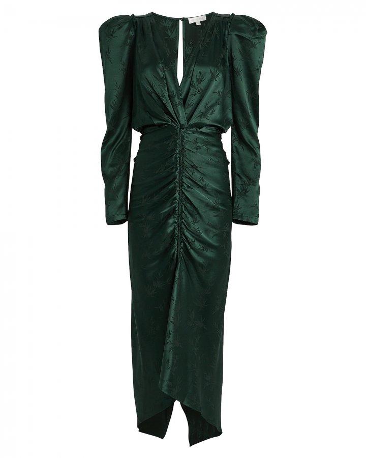 Astrid Ruched Jacquard Dress