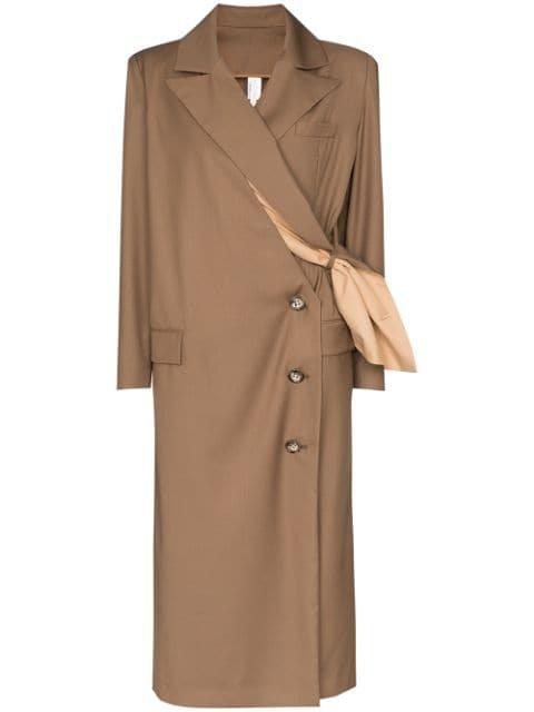 Marta Jakubowski Magnolia wrap-style Long Coat - Farfetch