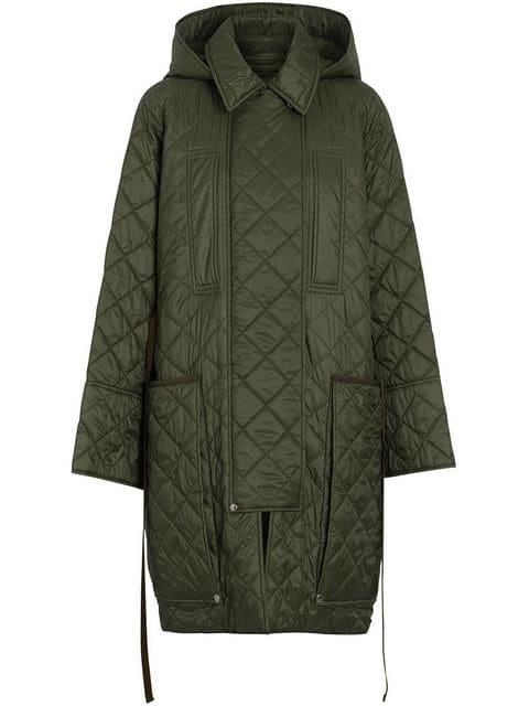 Burberry Diamond Quilted Hooded Coat - Farfetch