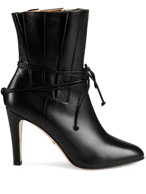 Gucci Gathered Upper Ankle Boots - Farfetch
