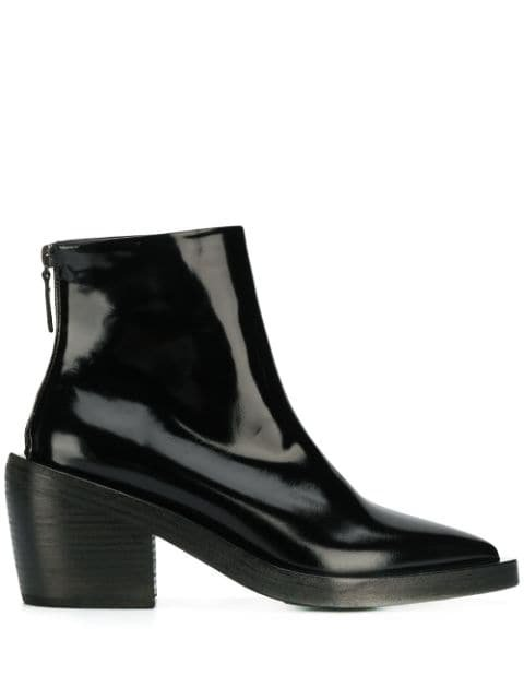 Marsèll Patent Pointed Ankle Boots - Farfetch