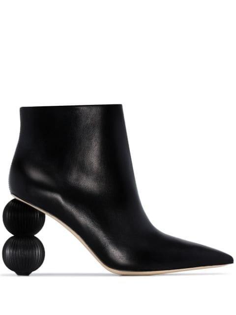 Cult Gaia Cam 100 Round Heel Boots - Farfetch