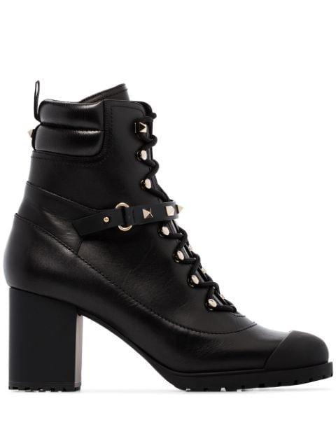 Valentino Valentino Garavani Rockstud 80mm Chunky Boots - Farfetch