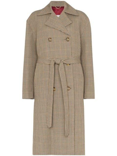 Magda Butrym Hammond Check Belted Coat - Farfetch