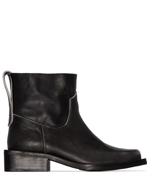 Ganni distressed-effect 40mm Ankle Boots - Farfetch