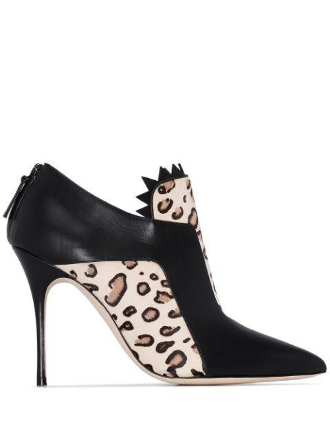 Manolo Blahnik Moretto 105mm Leopard Print Boots - Farfetch