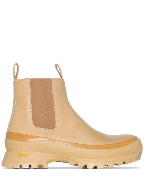 Jil Sander ridged-sole Chelsea Boots - Farfetch