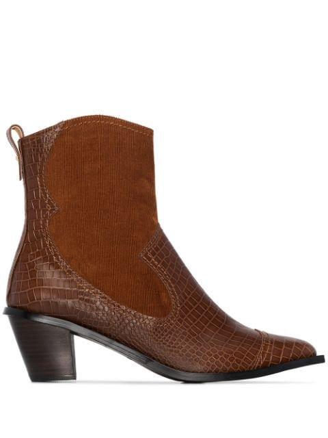 Reike Nen Snake Effect 60mm Western Boots - Farfetch
