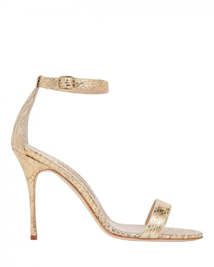 Chaos Python-Embossed Heeled Sandals