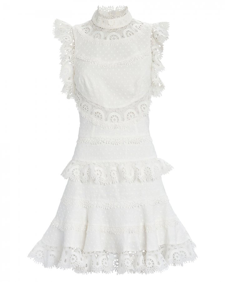 Peggy Embroidered Mini Dress