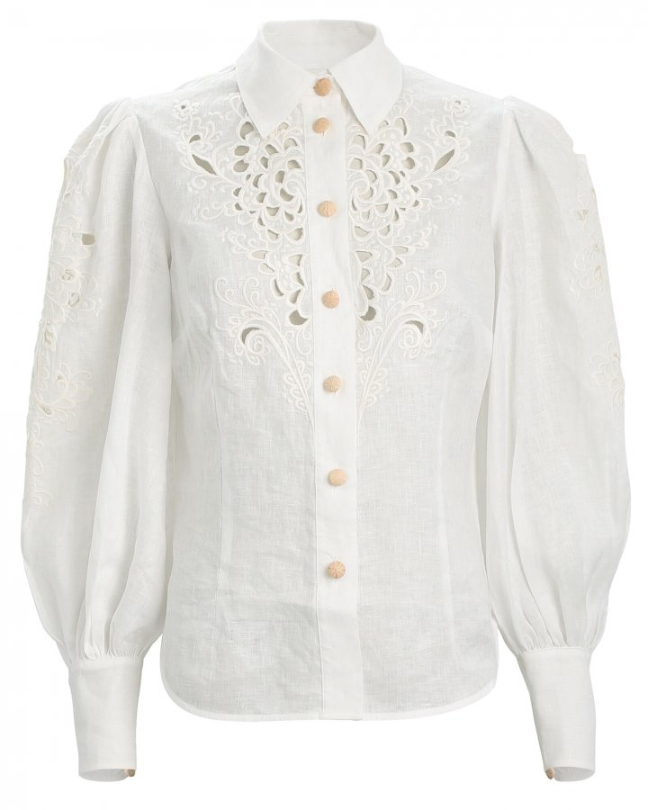 Peggy Embroidered Linen Shirt