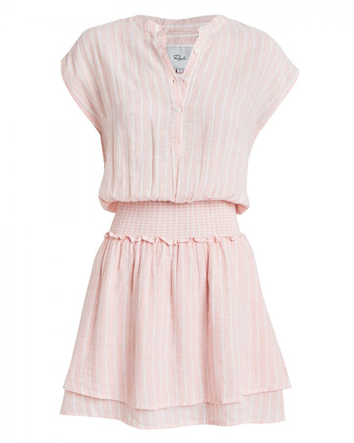 Angelina Striped Linen-Blend Dress