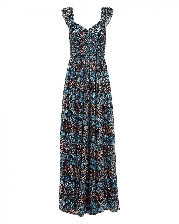 Evianna Silk Georgette Floral Gown