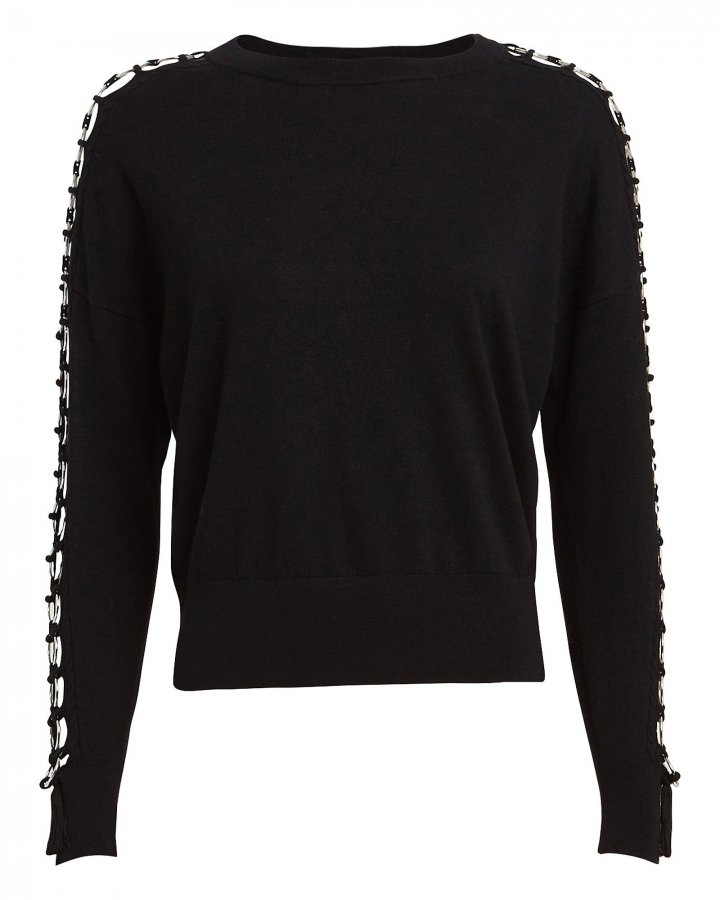 Ring Laced Crewneck Sweater