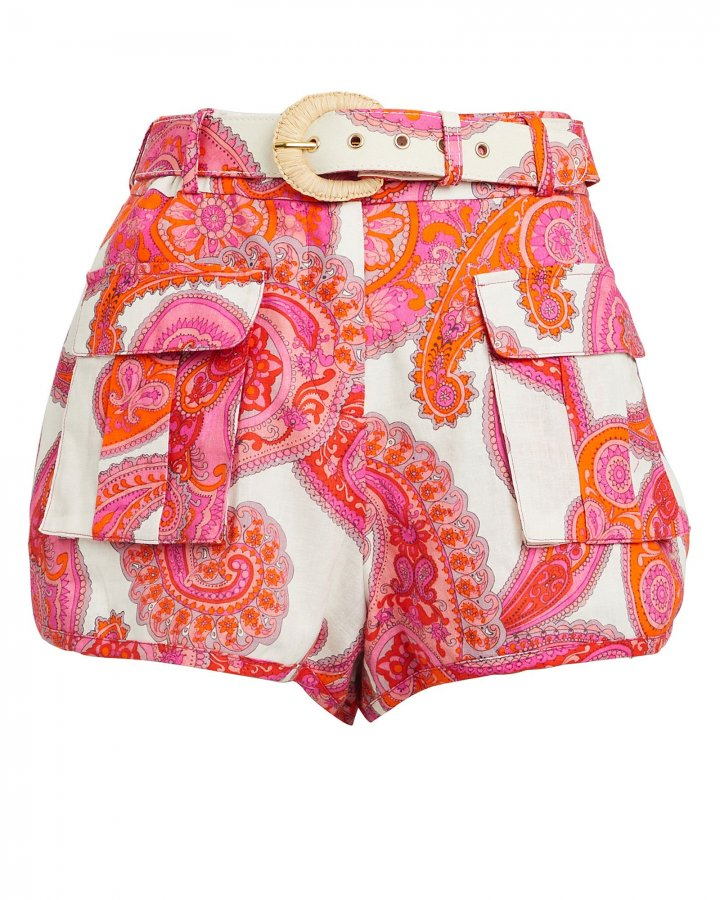 Peggy Paisley Safari Shorts