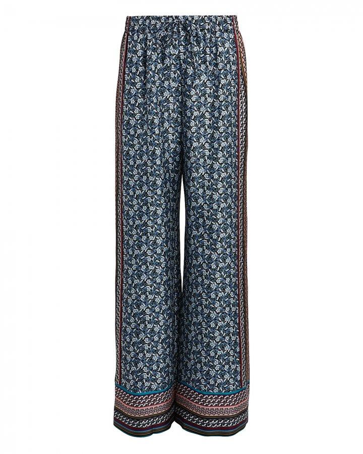 Clarissa Foulard Silk Trousers