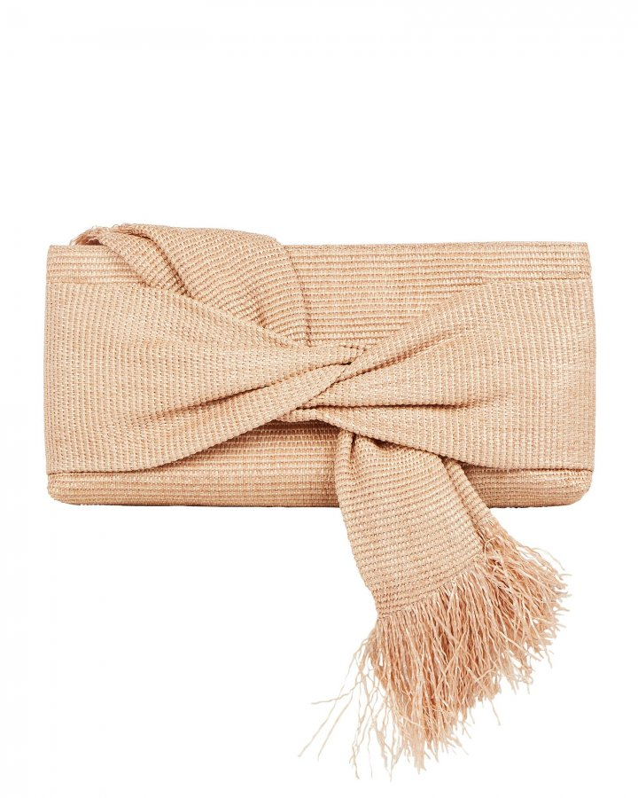 Banu Twisted Raffia Clutch