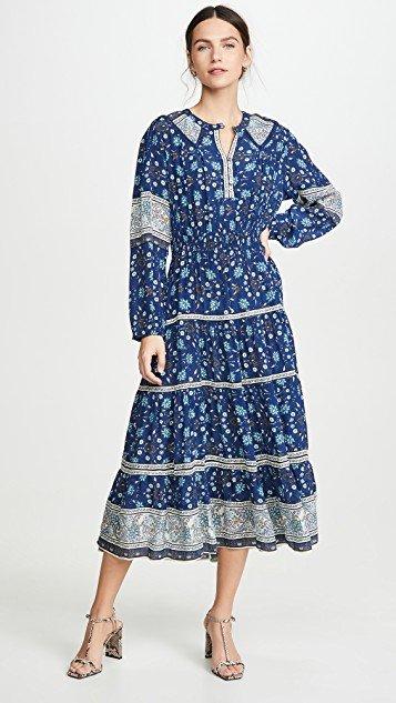 Penelope Long Sleeve Midi Dress